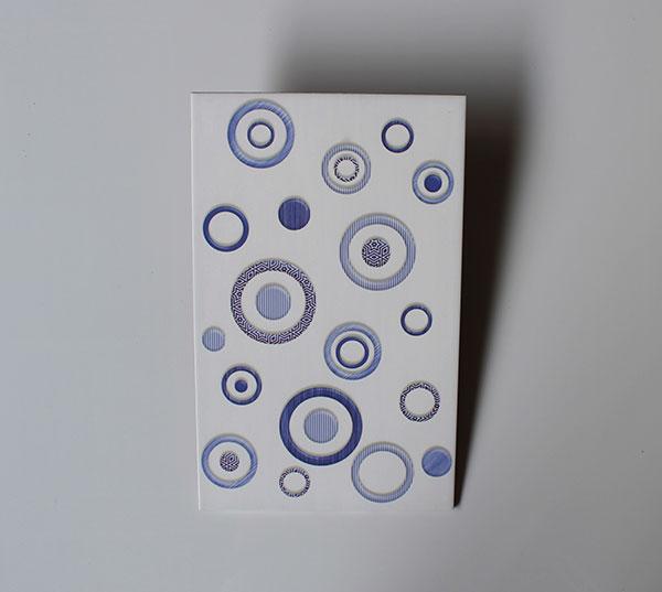 Keramik Dinding Uno Oscar Blue 2540 motif bulat