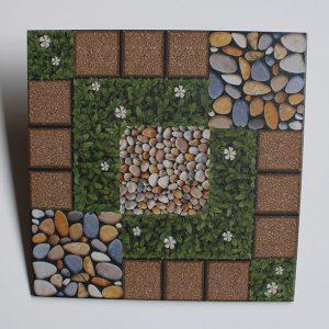 Keramik Lantai Estilo Chrysant Coklat 4040